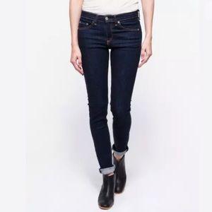 Rag & Bone High Rise Skinny Jeans 28 Blue Heritage
